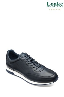 Loake Navy Leather Running Trainers