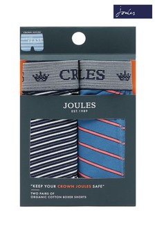 Lot de 2 boxers Joules Crown bleus