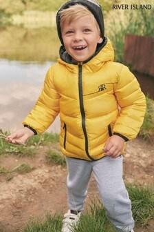 River Island黃色夾棉外套
