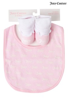 Juicy Couture Logo Bib & Bootie Set