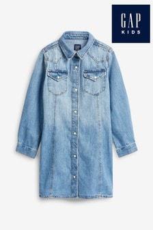 Gap Jeanskleid im Western-Look, schwarz