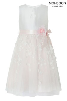 Monsoon Eloise Pink/White 3D Dress