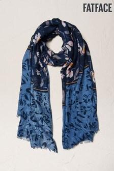 FatFace Schal mit Wasserpflanzenmotiv, Blau