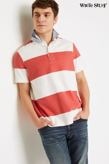 White Stuff Red Ripley Stripe Rugby Shirt