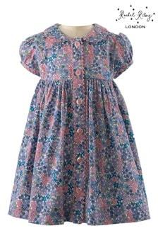 فستانأزرقزهور وقطعة ملابستحتية منRachel Riley