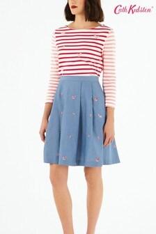 Cath Kidston® Cream Rose Embroidered Full Skirt