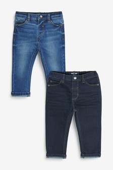 2 Pack Slim Fit Jeans With Stretch (3mths-7yrs)