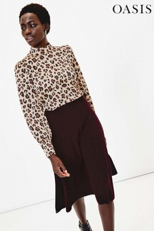 Oasis Brown Leopard Print Top