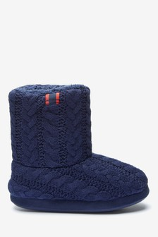 Knit Slipper Boots (Older)