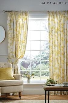 Laura Ashley Sunshine Forsythia Pencil Pleat Curtains