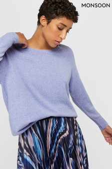 Monsoon Purple Alexandra Jumper