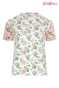 Cath Kidston® Mayfield T-Shirt mit Blütendesign, Creme