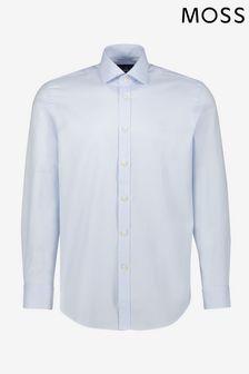 Moss 1851 Tailored Fit Sky Single Cuff Dobby Shirt