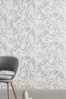Paste The Wall Distressed Leaf Wallpaper