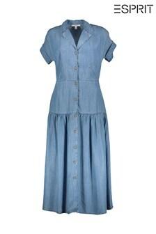 فستان ماكسي دنيم أزرق منEsprit