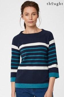 סוודר של Thought דגםSail La Vie בצבע כחול