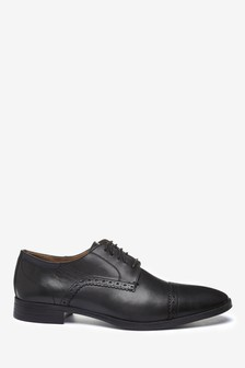 Leather Toe Cap Shoes