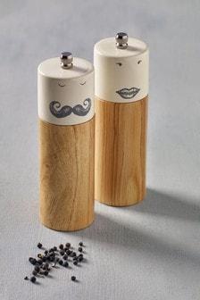 Soľnička a korenička Mr & Mrs