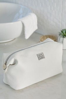 White Slouch Cosmetic Bag