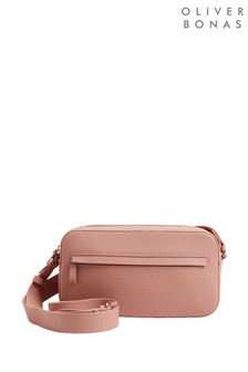 Oliver Bonas Pink Mira Baguette Cross-Body Bag