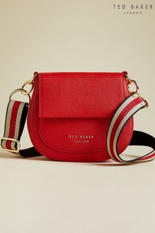 Ted Baker Red Amali Leather Round Cross Body Bag