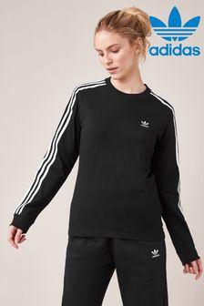 Футболка с длинным рукавом и тремя полосками adidas Originals