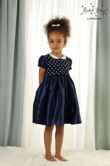 Rachel Riley Taft-Kleid, Marineblau