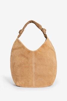 Suede Slouchy Hobo Bag
