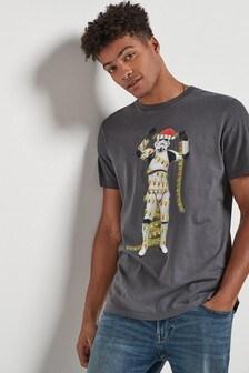 T-shirt con stampa natalizia