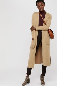 Monsoon Camel Mandy Maxi Cardigan