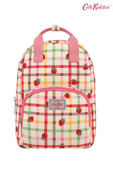 Cath Kidston® Cream Strawberry Gingham Kids Medium Backpack
