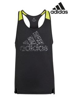 גופיה עם הדפס מנומר בצבע שחור של adidas