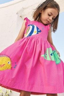 فستان وردي منمق أسماك منBoden