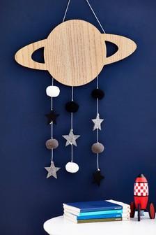 Súprava závesných dekorácií s brmbolcom s motívom vesmírnych planét