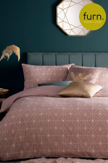 Furn Bee Deco Geo Reversible Duvet Cover and Pillowcase Set