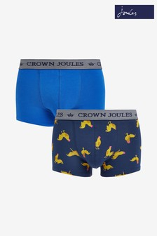 Joules Blue Crown Boxers Two Pack