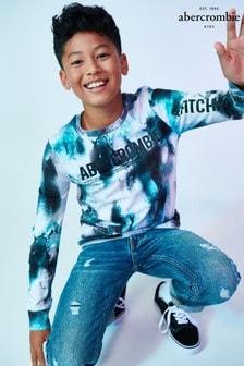 Abercrombie & Fitch Blue Dye Long Sleeve T-Shirt