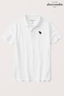 Abercrombie & Fitch White Poloshirt