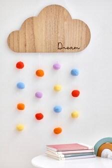 Dream Cloud Pom Pom Wall Art