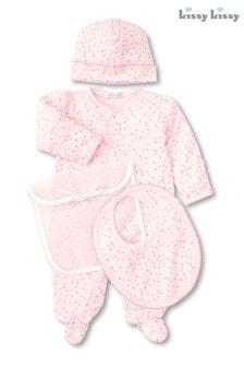Kissy Kissy Pink Hearts Print Five Piece Gift Set