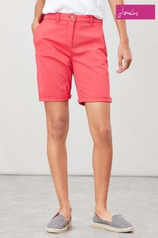 Joules Pink Cruise Longer Length Chino Shorts