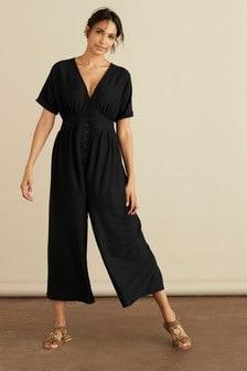 Black Maternity/Nursing Popper Jumpsuit (243809) | €39