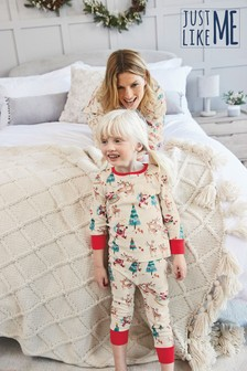 Christmas Scene Soft Touch Cotton Pyjamas (9mths-16yrs)