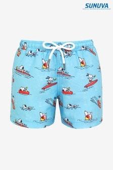 Sunuva Blue Snoopy Swim Shorts