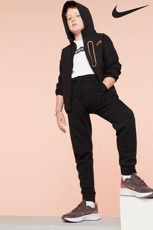 Pantaloni de sport Nike Tech negri din fleece