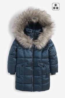 Двухцветная непромокаемая дутая куртка  (3-16 лет)