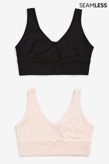 Maternity And Nursing Seamfree Bras Two Pack