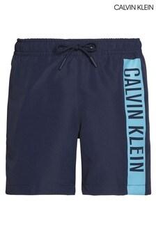 ملابس سباحة انتينس بووير برباط تحمل شعار العلامة التجارية باللون الأزرق من Calvin Klein