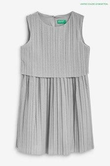 Benetton Silver Pleat Dress