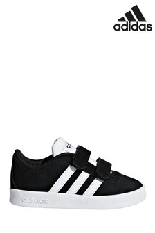 adidas Kids Black/White Court 2.0 Trainers